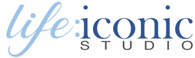 life:iconic studio | Painted Portraits of Engagements, Weddings, and Family | by Heidi Coutu Logo